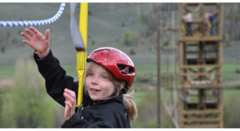 The ropes course includes 3 low ropes and 4 high ropes elements, including a zip line.