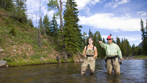 An Orvis endorsed lodge, C Lazy U Ranch offer trips on their 2 miles of private river as well as off-site trips.