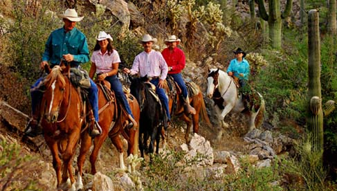 A trail ride at Tanque Verde Ranch in Arizona.