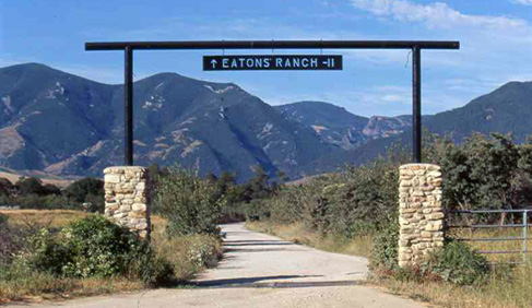 Eatons' Ranch, a Wyoming Dude Ranch, entrance