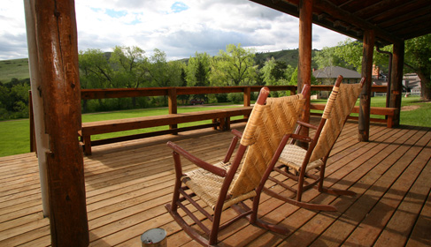 Eatons' Ranch, a Wyoming Dude Ranch, rocking chairs