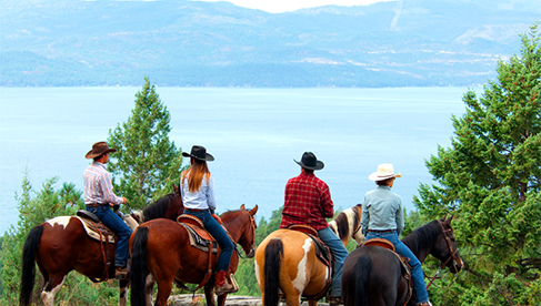 Flathead Lake Lodge horseback riding Montana