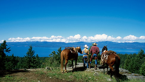 Flathead Lake Lodge Montana dude ranch for families