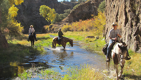 Riding in the fall at Geronimo Trail Guest Ranch