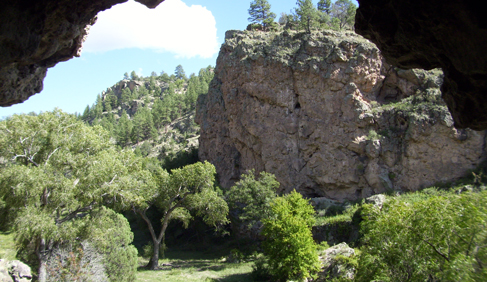 The Dwelling Canyon at Geronimo Trail Guest Ranch, New Mexico.