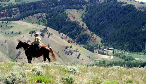 gros ventre river ranch, wyoming horseback riding vacations