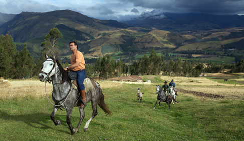 Horse riding up the Andes, by Pablo Corral at Hacienda Zuleta- Ecuador Riding Vacations