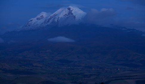 Cayambe Volcanoe as viewed from Hacienda Zuleta. Photo by Pablo Corral.