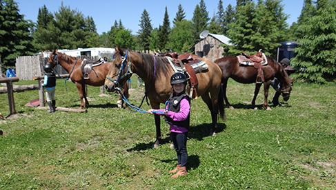Horse Country Campground Ottawa horseback riding in Canada