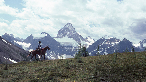 Enjoying the incredible scenery at Mt Assiniboine the Matterhorn of the Canadian Rockies
