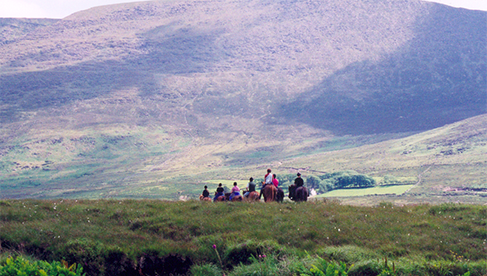 The Ring of Kerry ride explores the highlands of Kerry with the majestic McGillicuddy Reeks