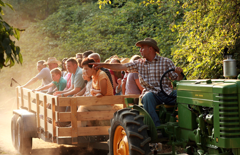 Marble Mountain Ranch hay ride, a California Dude Ranch Vacation