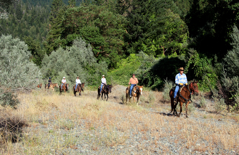 Marble Mountain Ranch mountain trail rides, a California Dude Ranch Vacation