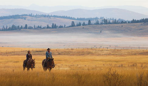 Horse ride in the footsteps of Lewis and Clark at this Montana luxury Ranch.