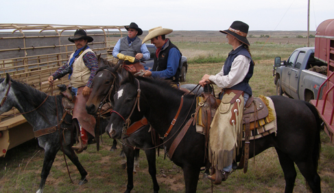 Moore Ranch Kansas working ranch vacations with longhorn cattle drives