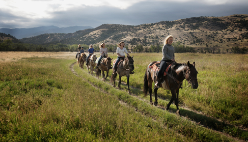 Mountain Sky Guest Ranch Montana horseback riding holidays