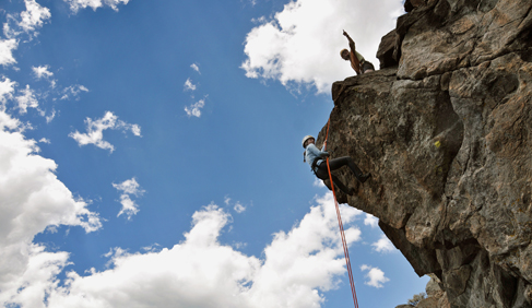 Mountain Sky Guest Ranch Montana rock climbing