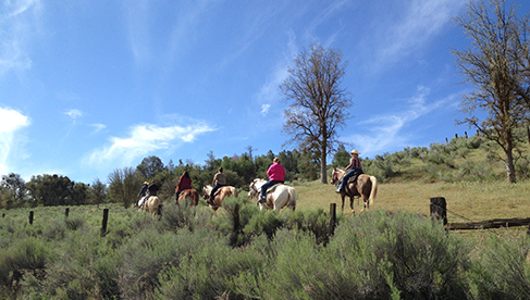 Trail riding at Rankin Ranch, California Cattle Ranch & Guest Ranch