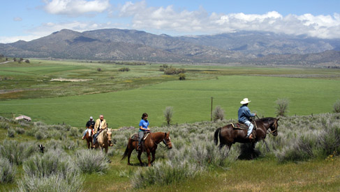 Riding the pretty valleys at Rankin Ranch, California Cattle Ranch & Guest Ranch