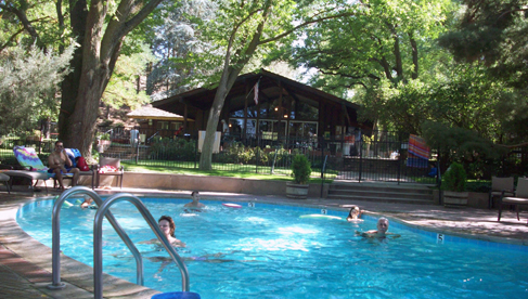 Take a dip in the pool at Rankin Ranch, a California dude ranch
