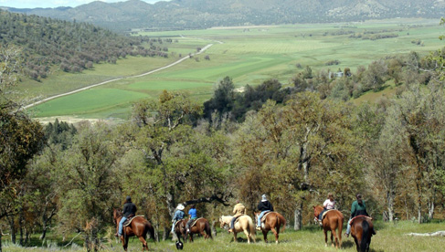 Horseback riding valleys at Rankin Ranch, California Cattle Ranch & Guest Ranch