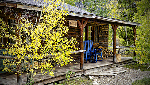 Comfortable cabins at Rawah Ranch