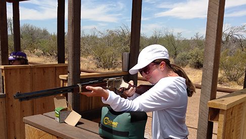Shooting lessons at this Arizona guest ranch
