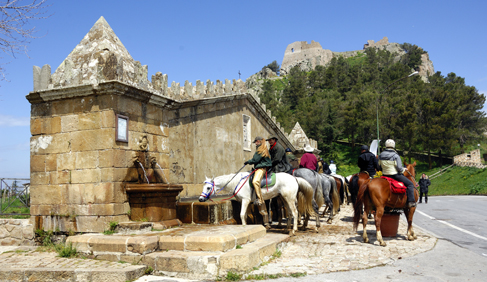 italy pilgrimage on horseback
