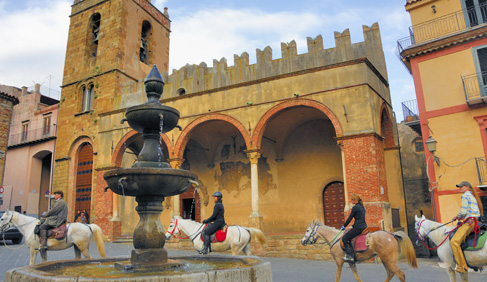 Italy Sicily horseback riding holidays
