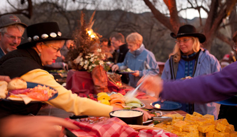 Several indoor and outdoor specialty dining events are held at Tanque Verde Ranch- Arizona Dude Ranch