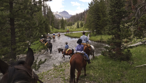 Scenic rides wind through high forests and spectacular wilderness at T Cross Ranch- Wyoming Dude Ranch