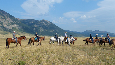 Riding the Prairies before heading up to the mountains in Waterton Lakes National Park