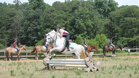 Valley View Ranch Equestrian Camp Georgia Vaulting Camp for Girls