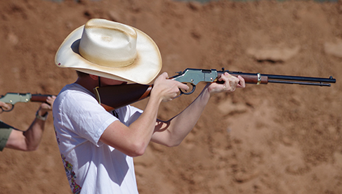 Family adventures with the shooting program at White Stallion Ranch