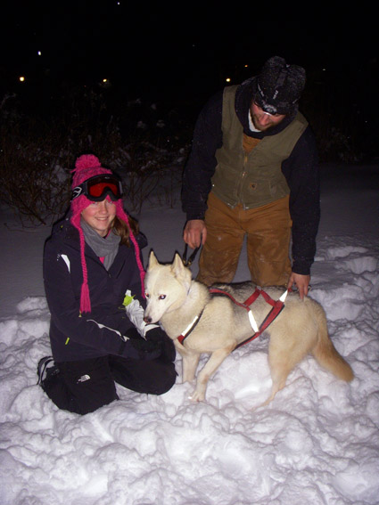 dog sledding in vermont