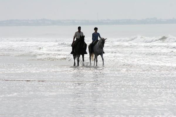 beach riding spain