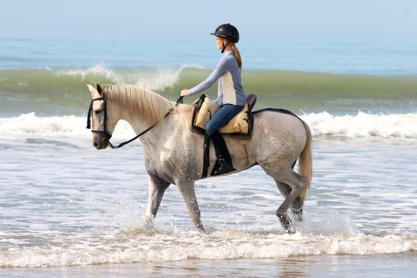 Spain beach riding
