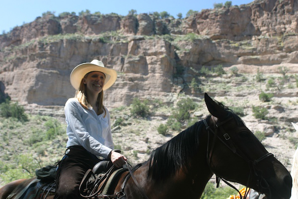 Gila horse riding