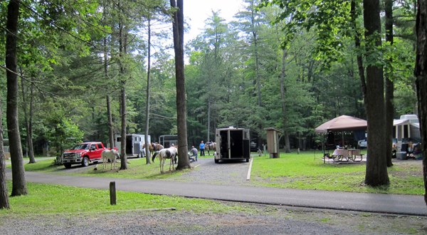 Douthat state park virginia horse camping trails
