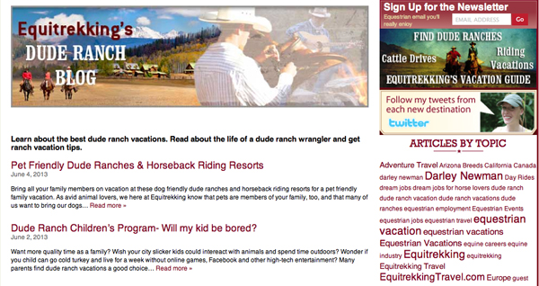 dude ranch blog
