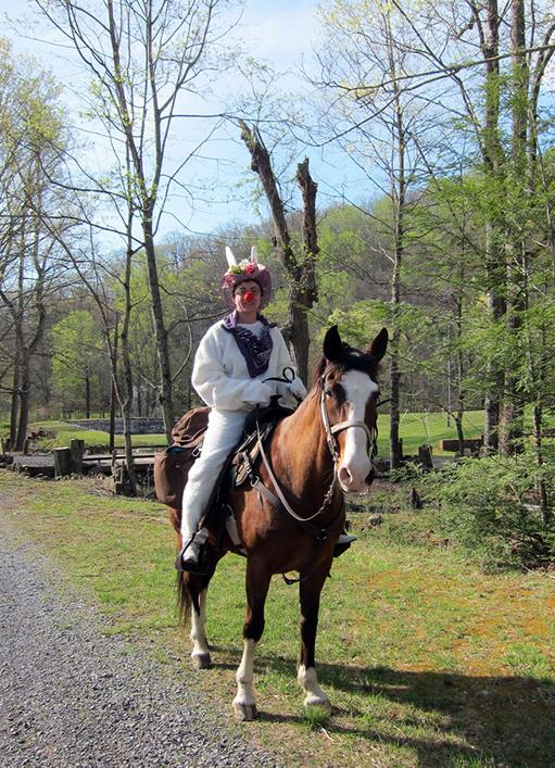 Easter Bunny horseback riding Virginia