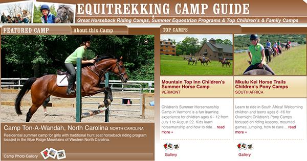 Equitrekking Horse Camps Guidebook