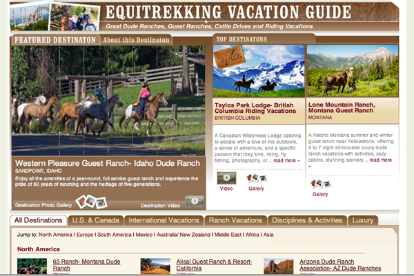 equitrekking vacation guide