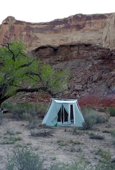 Tent camping Utah canyon lands riding vacations