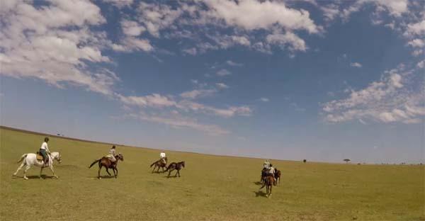cantering africa kenya horseback