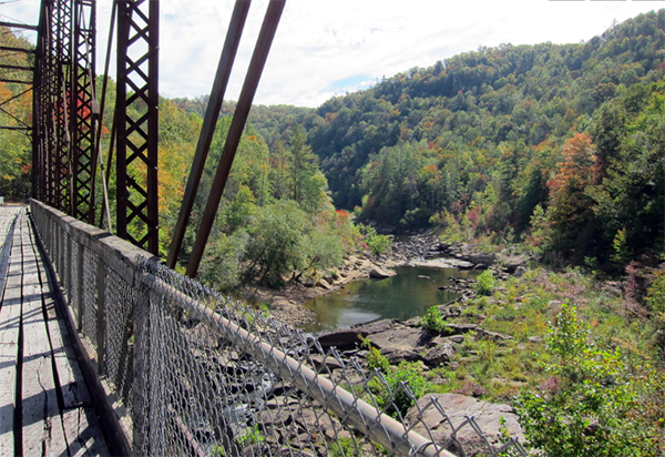 big south fork tennessee bridge