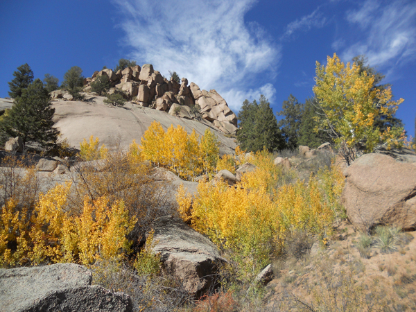 fall colors dome rock colorado