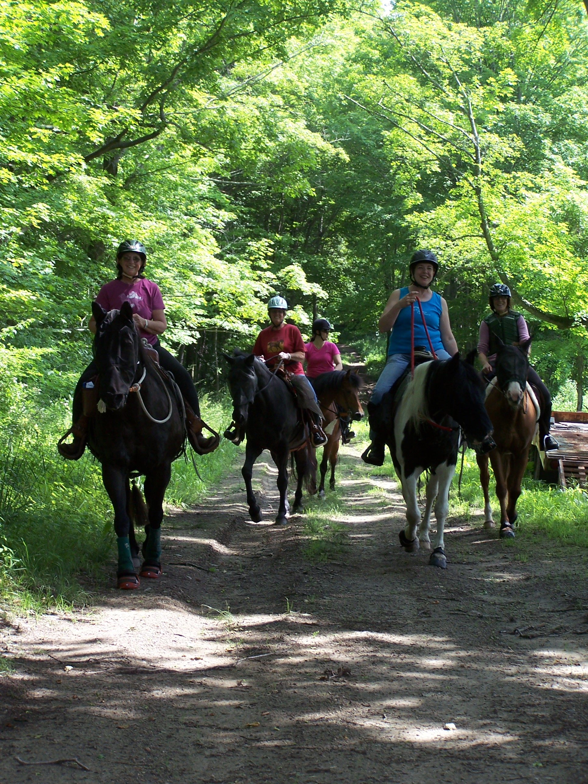 Riders on 2011 Summer Solstice Benefit Trail Ride