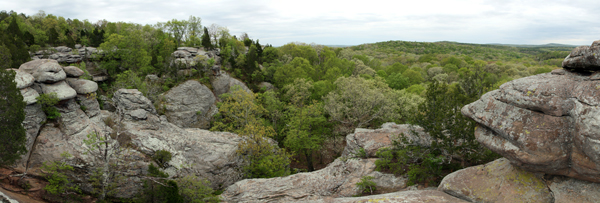 Garden of the gods, in Shawnee National Forrest, Illinois, USA