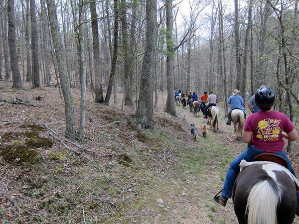 Horseback riding Virginia George Washington National Forest